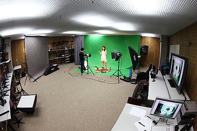 Photo and video recording studio